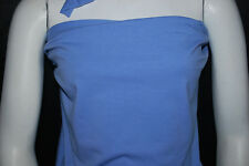 Cotton Jersey Lycra Knit Fabric 4 ways Stretch Luxurious Periwinkle Blue 10 oz