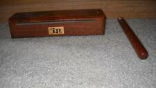 EARLY LP LATIN PERCUSSION SMALL GROOVE WOOD BLOCK W/ WOOD CLAVE STICK