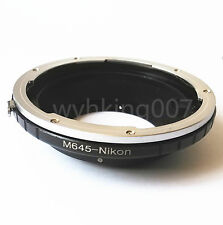 Mamiya 645 M645 Lens to Nikon F AI Camera adapter D90 D3200 D7100 D5300 D80 D3