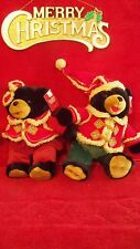WALMART SNOWFLAKE FRIENDS 2006 CHRISTMAS TEDDY BEARS, MATCHING BLACK PAIR