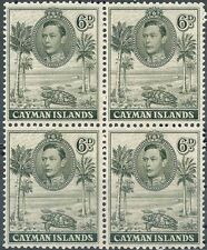 CAYMAN IS 1938 GEORGE VI / TURTLE blk of 4 SC#107a//SG#122 MNH CV$60 (DEL06)