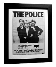 THE POLICE+Outlandos+Roxanne+POSTER+AD+RARE+ORIG+1979+FRAMED+EXPRESS GLOBAL SHIP