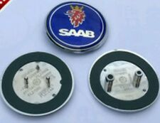 Saab 9-3,9-5 68mm Badge Blue Set of 2 Boot Back/Bonnet Front Logo Emblem