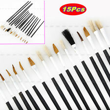 15x All Purpose Paint Brushes Set Fr Oil Watercolors Art Acrylic Supply Painting