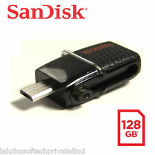 SanDisk 128GB Ultra Dual USB Drive 3.0+micro USB OTG-Enabled Android Smart Phone