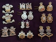 Assorted British Army Military Collar Badges QTY 9 Pairs