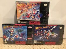 Mega Man X3 X2 X ( X1 ) Super Nintendo SNES CIB Complete With Box Trilogy