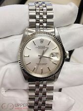 Mens Rolex Stainless Steel/18K White Gold Datejust Jubilee w/Silver Dial 1601
