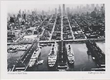 "*Postcard-""RMS Queen Mary (Huge Linder) Docked in New York""  (#23)"