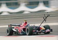 Neel jani main signé 12x8 photo scuderia toro rosso F1 14.