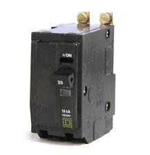 Square D QOB220 20A 120/240V 2P Circuit Breaker 20 Amp 10kA Lot of 5 Recon