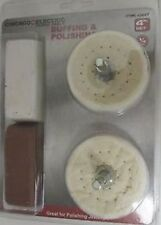 4 PC POLISHING BUFF BUFFING BUFFER WHEEL KIT WITH JEWELERS ROUGE COMPOUND BARS