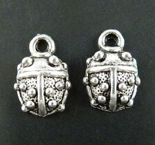 80pcs Tibetan Silver Ladybug Charms Jewelry DIY 15x10x4mm 215