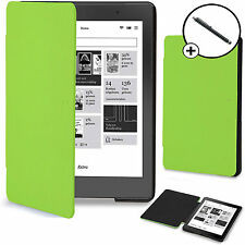 Forefront Cases® Green Shell Smart Case Cover Kobo Aura Edition 2 Stylus