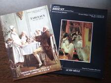 Lot de 2 catalogues vente Tableau Peinture XIXe siecle 19e 19th century painting