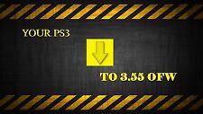PS3 3.55 OFW services Fast turn around.  Extra options available!! Slim PS3 ONLY