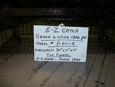 E-Z Catch Green & White Crabs Bait Catching Trap PVC Coated Made in U.S.A. P-601