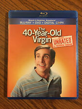 The 40-Year-Old Virgin (Blu-ray/DVD, 2011, 2-Disc Set) - LIKE NEW, NEVER USED