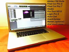 "MacBook Pro 17""  3.3GHz Quad i7 TURBO + 16GB +1TB SSHD + COMPLETE EDITING SUITE"