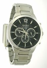 Seiko ReCraft Solar Powered Stainless Steel Men's Chronograph Watch SSC321