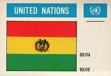 Bolivia --- Flags of the World --- United Nations,  Nations Unies, UN Postcard