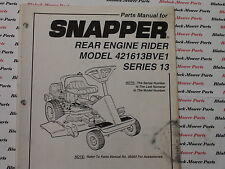 06090 Snapper 421613BVE1 Rear Engine Rider Parts Manual