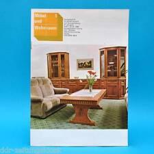 DDR Möbel und Wohnraum 1/1984 Fachzeitschrift Polnische Möbel Leipzig Messe