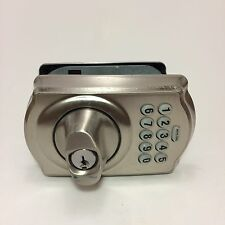 Schlage Keypad Deadbolt Electronic Lock Door Security Satin Nickel (Missing Key)