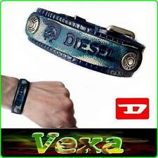 New Style DIESEL Leather Bracelet Blue Bangle Wristband Mens Womens Surf-er BD22