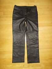 Ladies   black  LEATHER  PANTS -   Women's  size 9