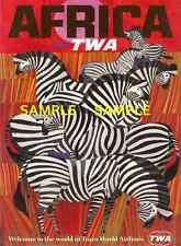 """TWA Airline - 11"""" x 17""""    Travel Poster - [ AFRICA ] -"""