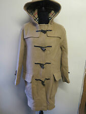 Genuine Vintage Burberry Prorsum Brown Wool Duffle Duffel Coat UK 8 Euro 36