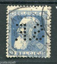 BELGIQUE 1905, timbre CLASSIQUE 76, PERFIN perforé, LEOPOLD II, oblitéré