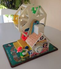 Vintage Fisher Price Lot Little People Music Box Ferris Wheel & Toot-Toot Train