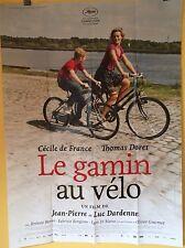 Affiche LE GAMIN AU VELO. 120 x 160 cms. Cecile De France, Dardenne.