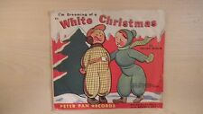 "Peter Pan RED Records I'M DREAMING OF A WHITE CHRISTMAS 7"" 78 RPM 1951"
