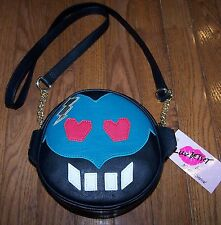 Betsey Johnson MONSTER Crossbody Bag Purse BLACK/WHITE/TEAL/PINK ~ NWT $48