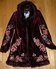 NEW Betsey Johnson Velvet Vintage Opera Coat Jacket NWT  M L 10
