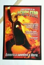CONFESSIONS OF AN ACTION STAR FIRE ART 5x7 PAPER FLYER MINI POSTER (NOT A movie)