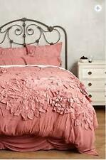 NWT Anthropologie Georgina Duvet Cover King Size Rose Pink Free Shipping