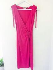 NEXT - BEAUTIFUL FUSCIA PINK WRAP STYLE DRESS - SIZE 8 PETITE (would Fit UK 10)