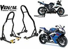 Venom Sport Motorcycle Front & Rear Lift Stands Fork Swingarm New Free Shipping