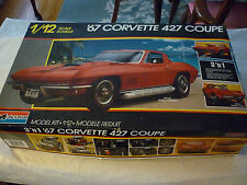 Monogram 1/12 scale 1967 Chevy Corvette 427 Coupe Model Kit Box has been opened
