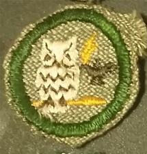 1933-1936 Girl Scout Badge SCRIBE SCHOLARSHIP - GREY GREEN ROUND