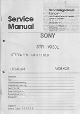 Sony  Service Manual  für STR-VX 30L