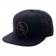 DC Comics Zoom Flash Logo Snapback Black on Black Baseball Cap Hat TV Show NEW!
