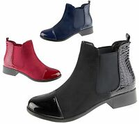 Womens Ankle Boots Ladies Chelsea High Top Desert Trainer Winter Shoes Size