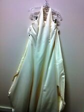 Ivory Halter A-Line Satin Wedding Gown - Size 12