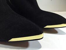 Rachel Zoe Blk Kid Suede NADIA Wedge Heel Bootie Size 10M, Ankle, High