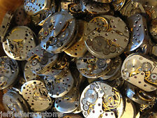 5 X RANDOM VINTAGE WATCH MOVEMENTS BROKEN RUSTY USED BUT STILL BEAUTIFUL OLD